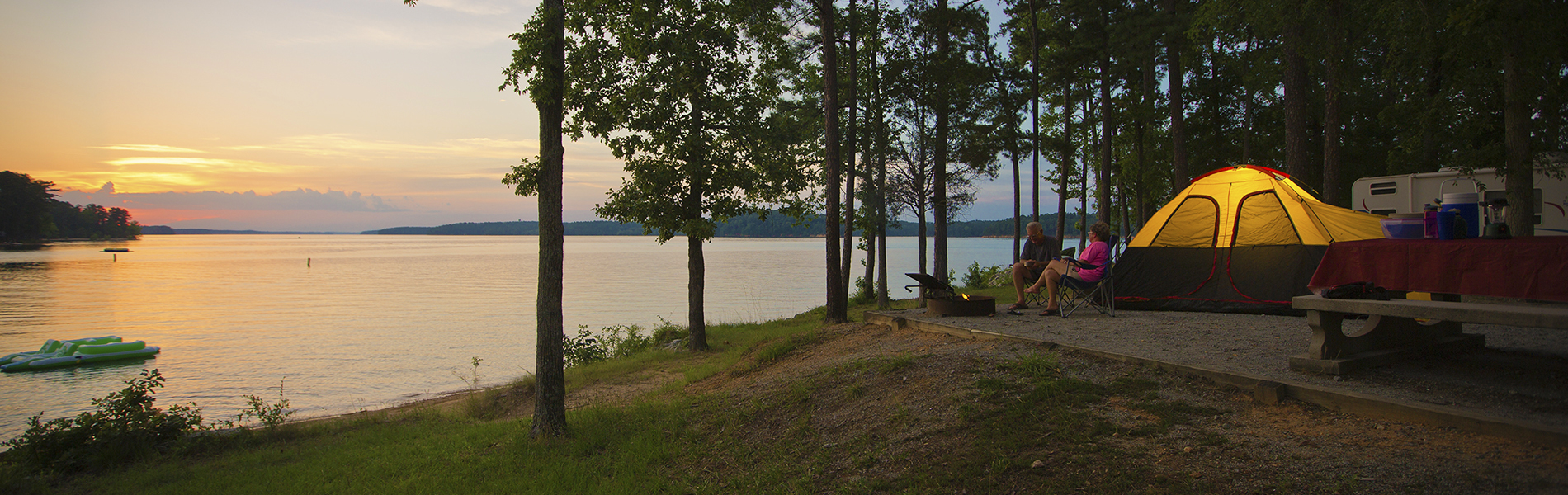 Camping at Elijah Clark