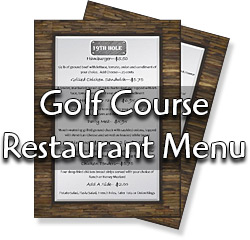 Arrowhead Pointe Golf Course Restaurant Menu