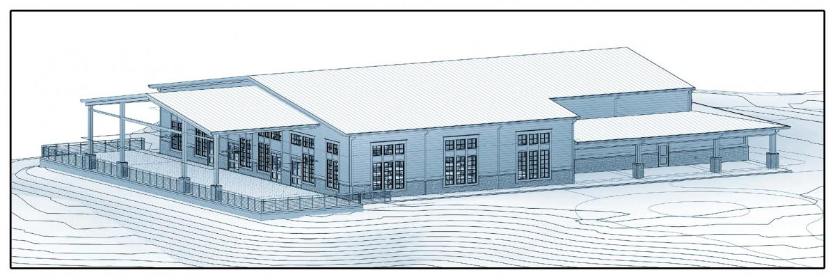 Idlewilde Event Center Line Drawing