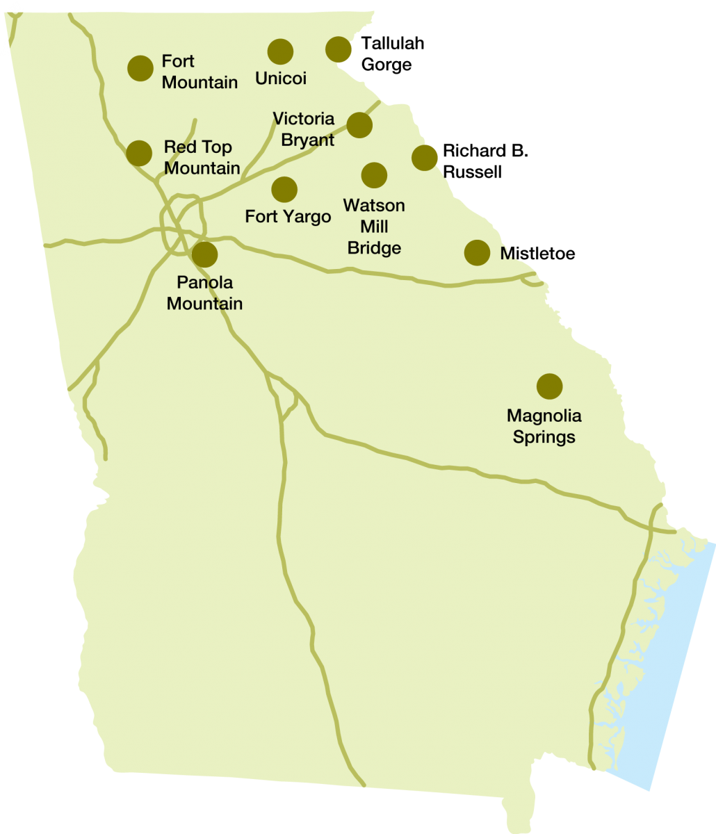 Georgia state parks historic sites map state parks historic sites publicscrutiny Images