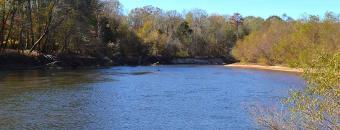 river flowing through Montezuma Bluffs Wildlife Management Area