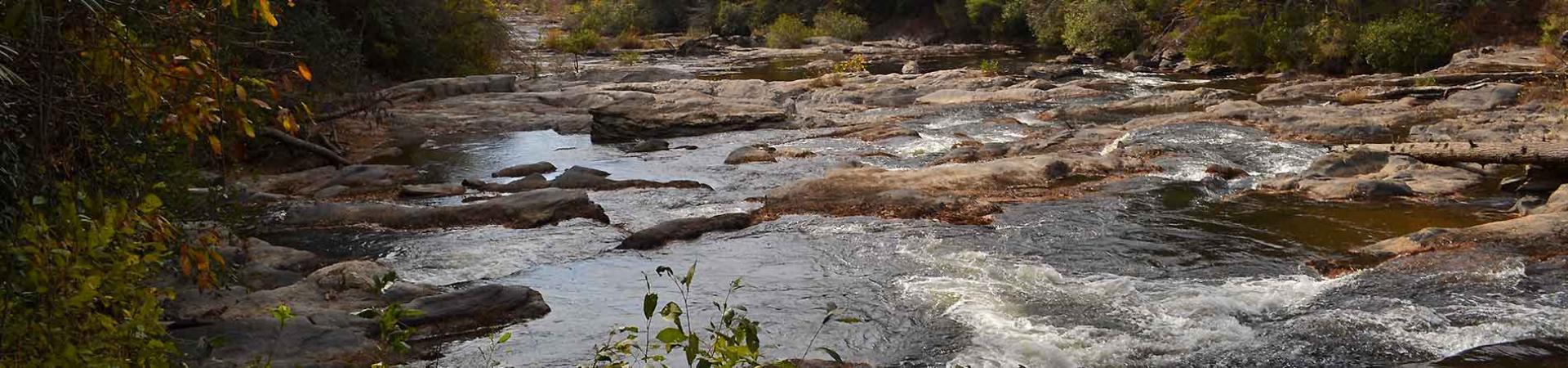 river running through rocks
